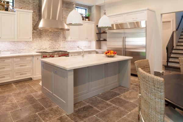 English Modern Kitchen Island