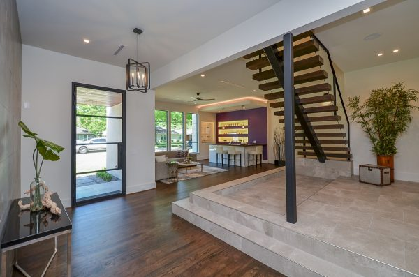 English Modern Floating Staircase and Living Space