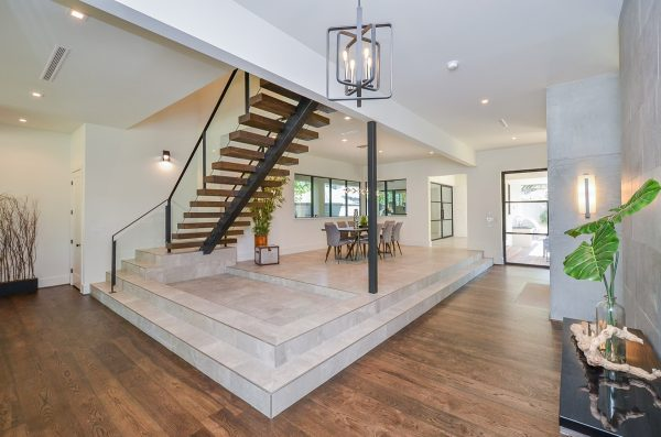English Modern Floating Staircase