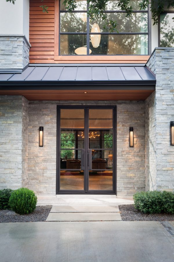 Prairie Modern Glass Front Door
