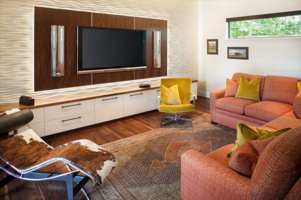 Prairie Modern Media Room