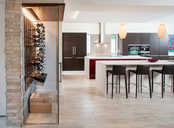 Prairie Modern Kitchen and Wine Storage