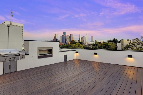 Modern Topography Houston Home Roof Top Terrace