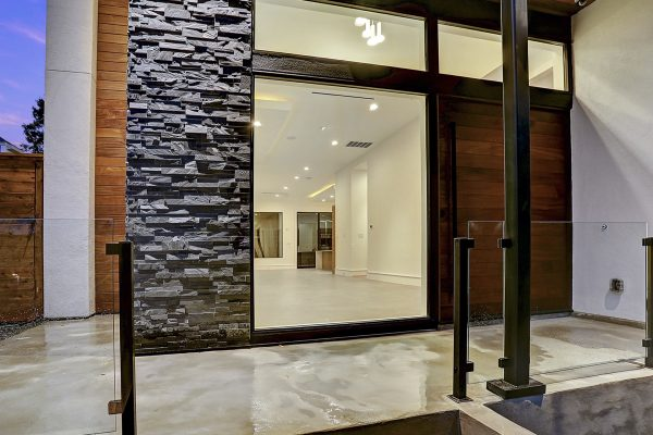 Modern Topography Houston Home Front Entry