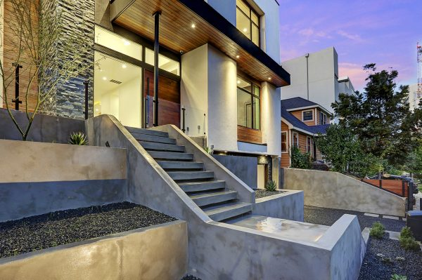 Modern Topography Houston Home Front Steps