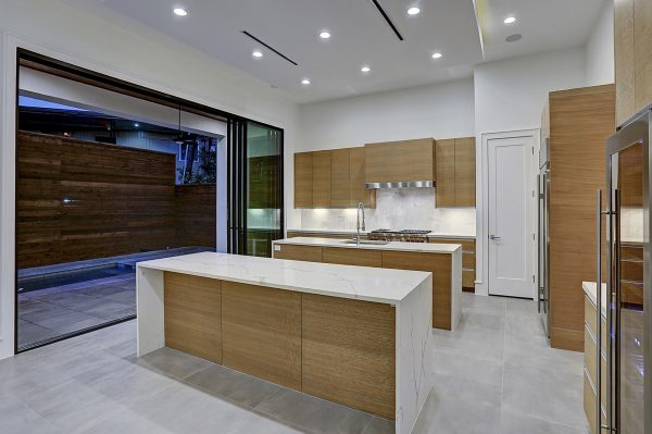 Modern Topography Houston Home Kitchen Indoor Outdoor