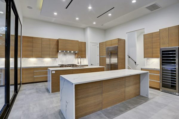 Modern Topography Houston Home Kitchen Island