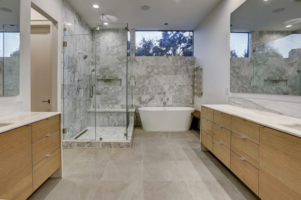Modern Topography Houston Home Master Bath