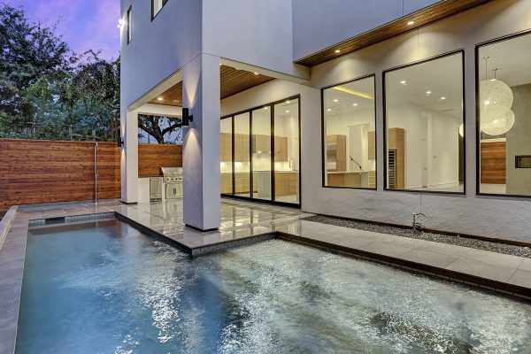 Modern Topography Houston Home Pool and Patio