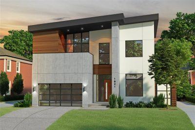 Modern: Montrose Custom Home 3D Rendering