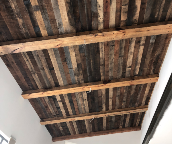 Custom Home New Home Construction Wood Ceiling